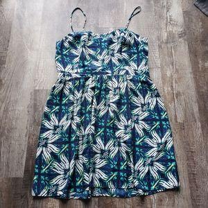 GAP Blue & Green Print Sundress
